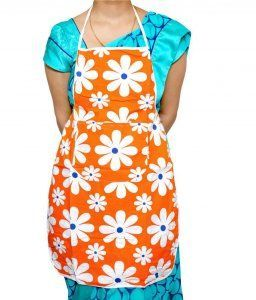 Kuber Industries Multi Color Waterproof Apron(colour & Print might vary according to availability)