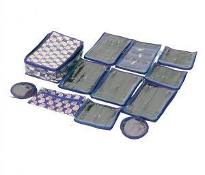 """Kuber Industries Locker Jewellery Kit With 12 Pouches (Brocade Material) Wedding Collection Gift """