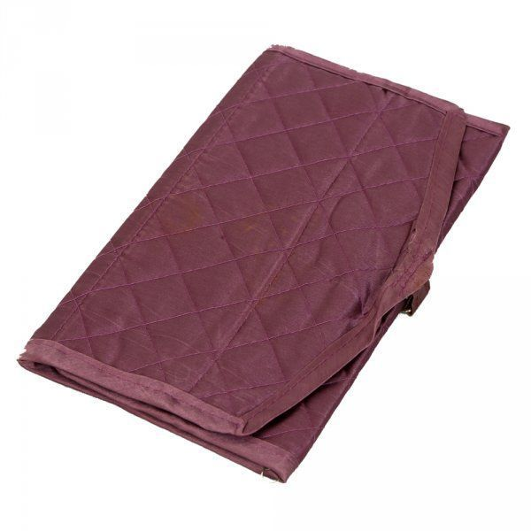 Kuber Industries Foldable Payal kit, Travelling Organiser in Quilted Satin Material (Purple) -KI3254
