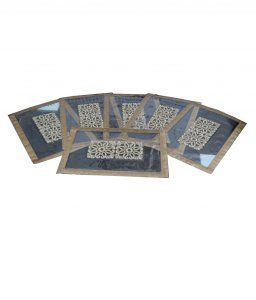 Kuber Industries Dining Table Place Mats Set of 6 Pcs in Full laminated Patch Design