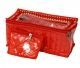 Kuber Industries Jewellery Box With 10 Transparent Pouches (Red)