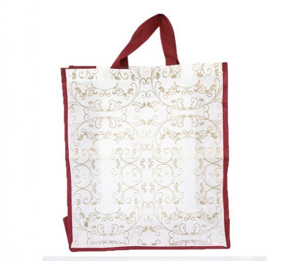 Kuber Industries Gift Hand Bag ,Carry Bag in Non Woven Material Set of 100 Pcs (Dimenson-18*15.5*6 Inches)