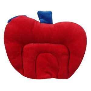 Kuber Industries Mustard Seeds (Rai) Pillow - Apple Shape (Velvet), Blue - KI3334