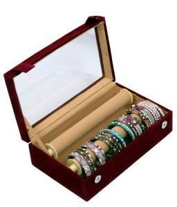 Bangle Box Maroon Two Roll