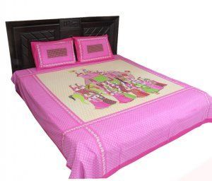 Kuber Industries Rajasthani Traditional Bedsheets with 2 Pillow Covers, King Size double bed bedsheet,100% cotton