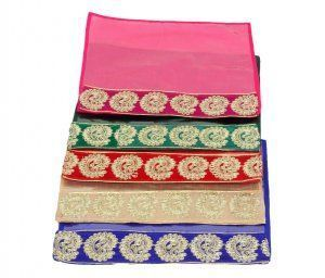 """Kuber Industries Designer Zari Border Flip Saree cover  set of 5 Pcs """