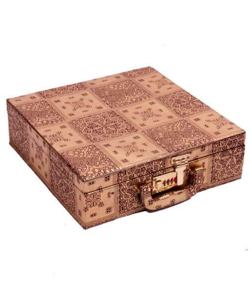 Bangle Box Golden Four Roll With Lock