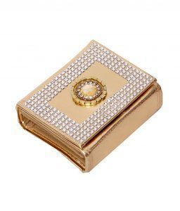 Kuber Industries Foldable Bindi Kit Golden Tissue  Laminated (16 Flaps)