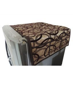 Golden-brown Geometrical Fridge Top Cover