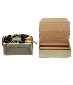 Golden bangle Box 2 rod & Vanity Box 2 pcs Combo