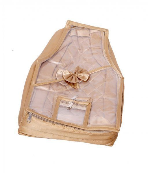 Kuber Industries Blouse Cover in Quilted Satin Fabric (Golden)