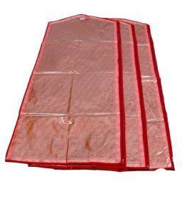 Full Length Suit Cover Transparent Brocade Set of 3 Pcs