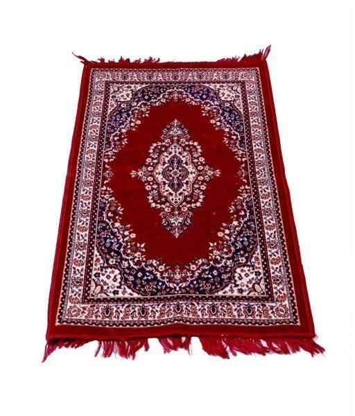 Kuber Industries Maroon Colored Traditional Design Jute Filling Sheet Carpet (4*2 feet)
