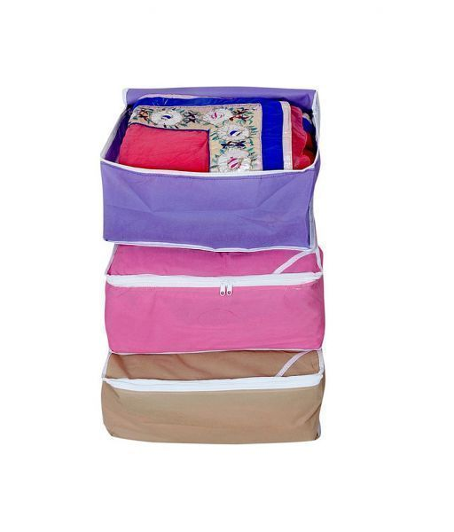 Non Wooven Saree Cover Set Of 3 Pcs