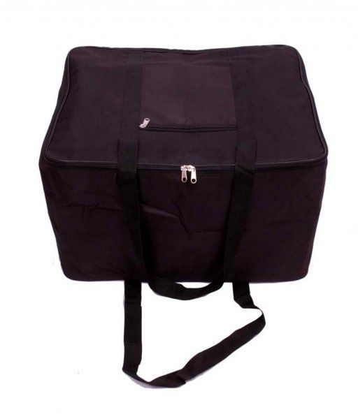 Kuber Industries Jumbo Attachi bag in Heavy Rexine Material (Black)