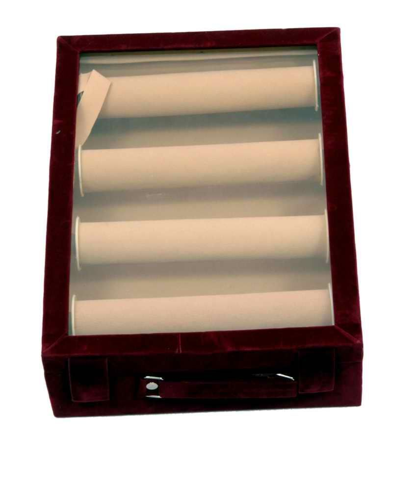Bangle Box Maroon Four Roll