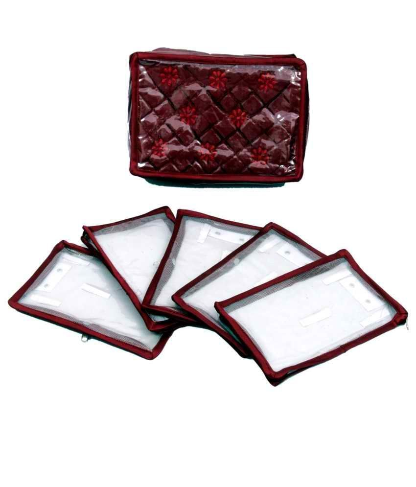 Locker Jewllery Kit Maroon In Quilted Satin