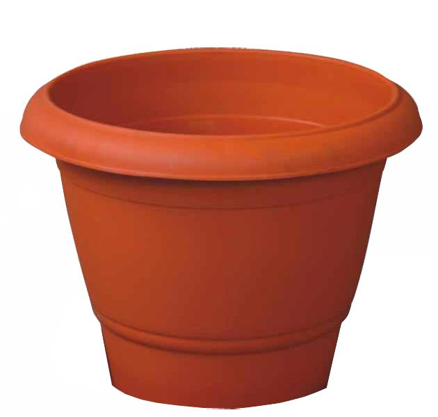 Kuber Industries Plastic Plants/Flower Pot (Brown) Set of 1 Pc