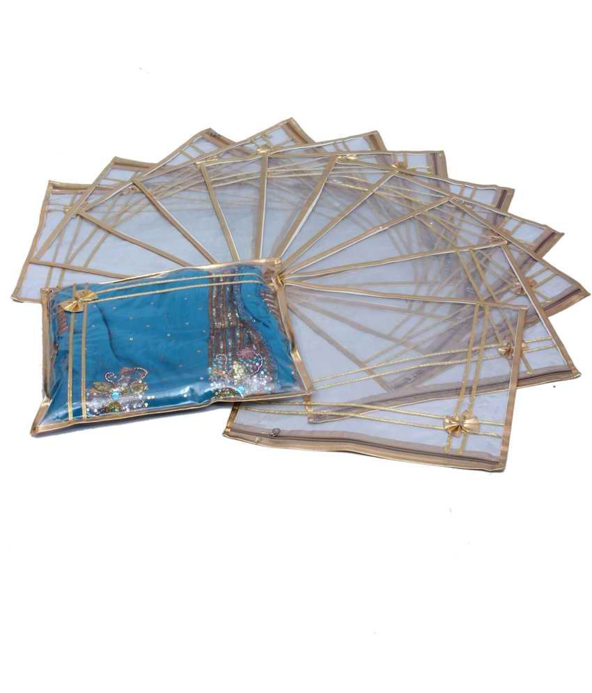 Saree Cover in Heavy Transparent Set Of 12 Pcs