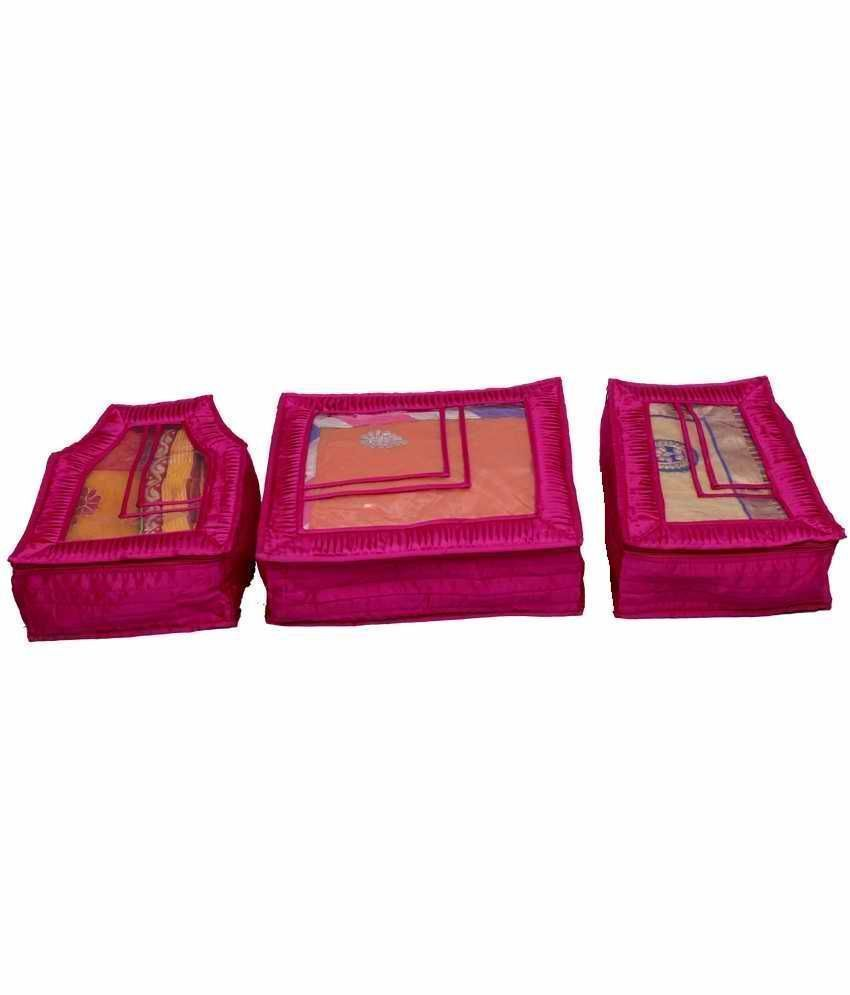 Quilted Satin Saree Blouse & Peticot Covers Set