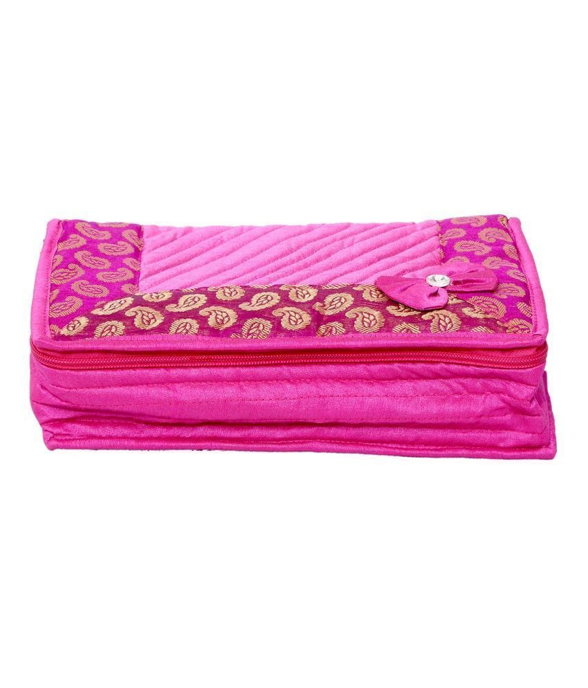 Kuber Industries Designer Jewellery Kit in Heavy Quilted Material