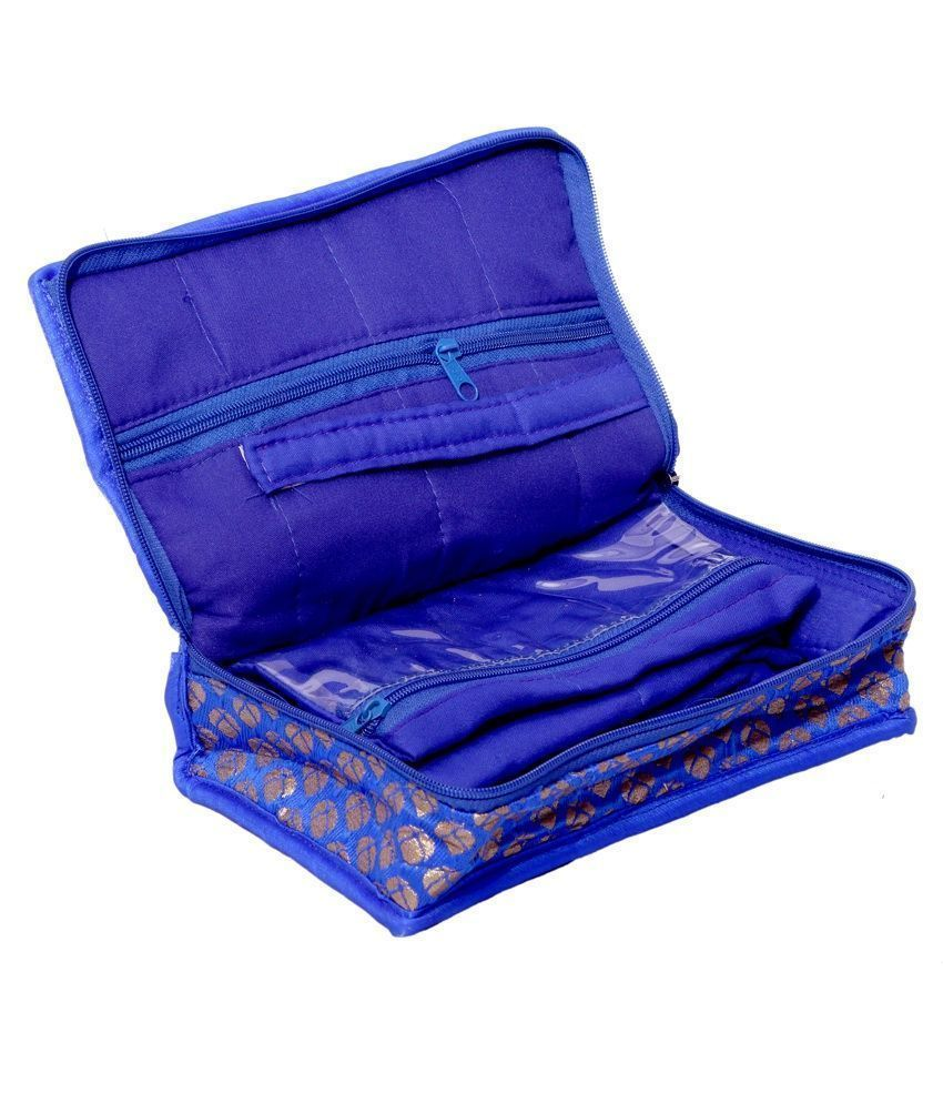Kuber Industries Designer Jewellery Kit in Heavy Quilted Brocade Material