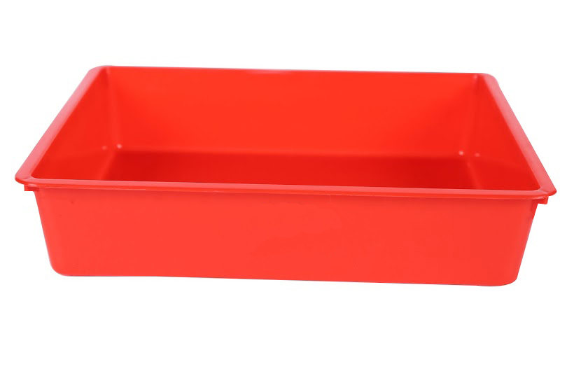 Kuber Industries Plastic 3 Pieces Big, Medium & Small Size Multipurpose Stationary Tray (Multi)-CTKTC3790